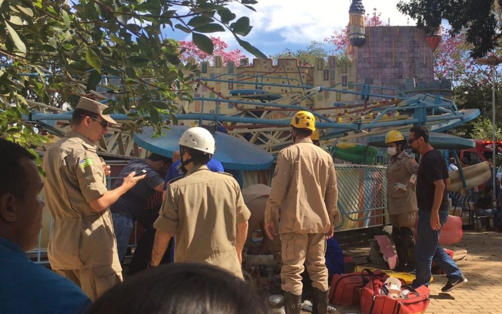 Acidente no Parque Mutirama deixa 11 feridos em Goiânia