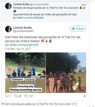 Anitta grava clipe de 'Is That For Me' na Amazônia; veja fotos