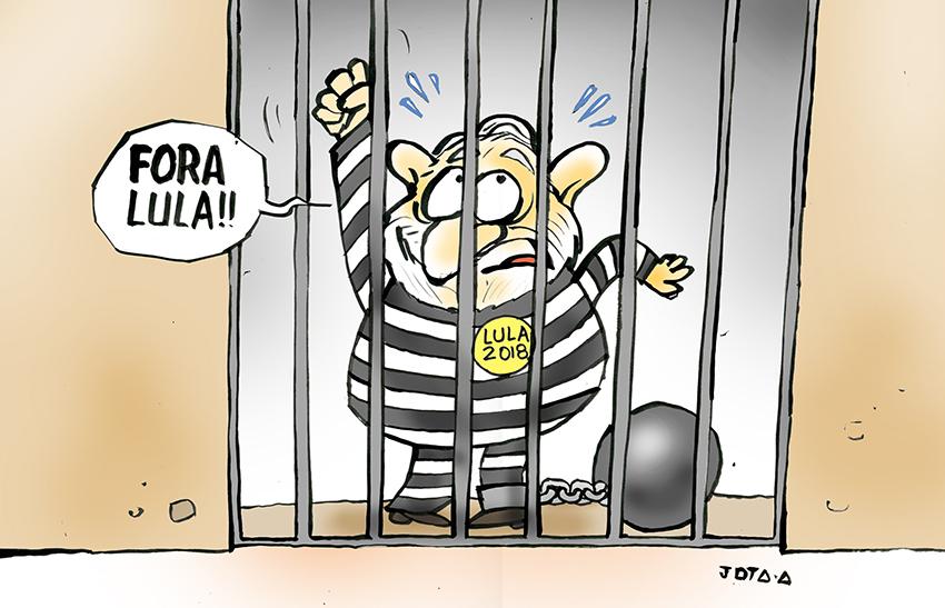Resultado de imagem para libertação de Lula charges
