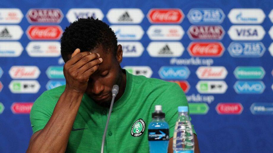 John Obi Mikel é o camisa 10 da seleção nigeriana. (Foto  FIFA via Getty  Images) 99b8faaa078e4