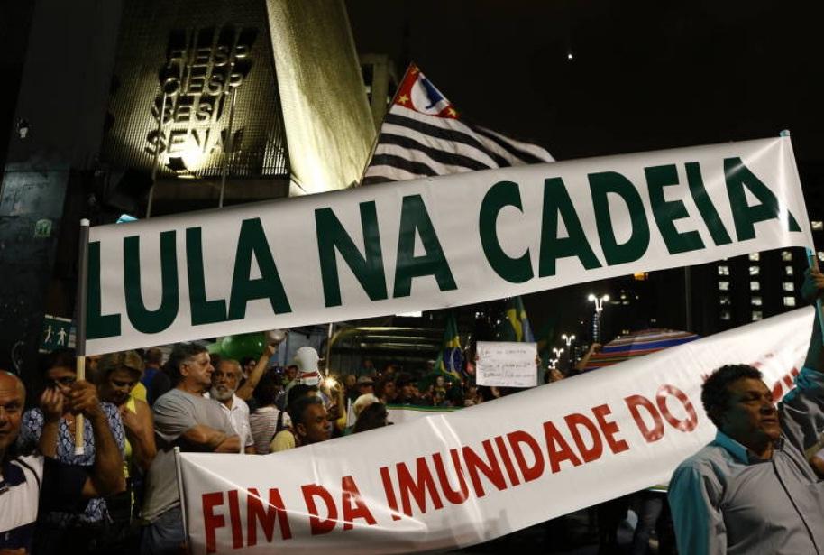 Resultado de imagem para Manifestantes fazem atos em cidades pelo país na véspera do julgamento do habeas corpus de Lula no STF