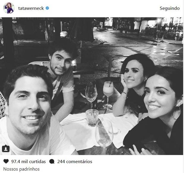 Tatá Werneck revela que está noiva de Rafael Vitti