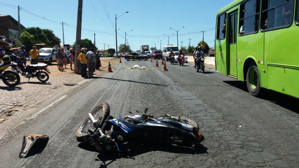 Motociclista morre em acidente grave envolvendo caminhão na BR 316