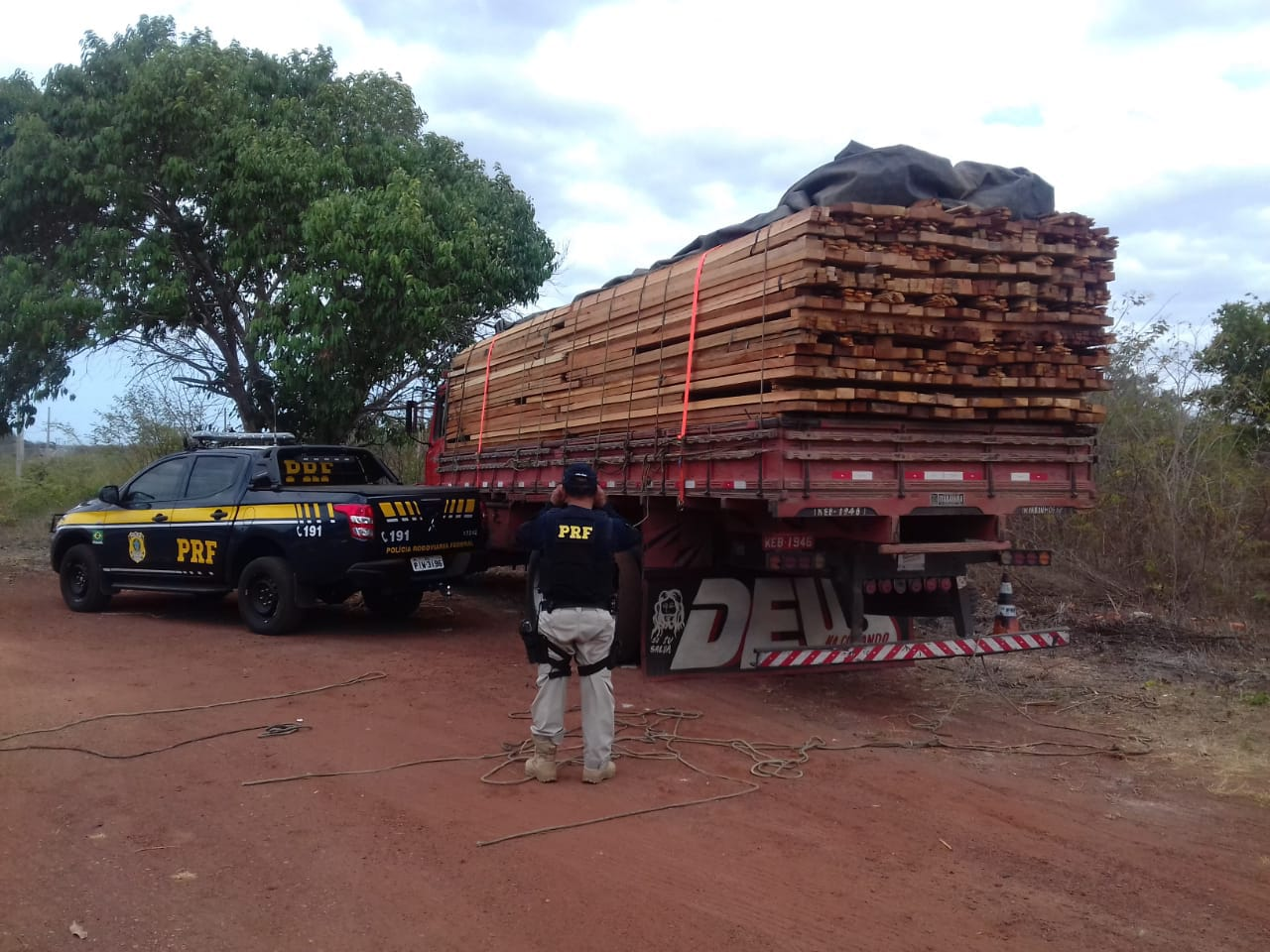 whatsapp image 2018 10 31 at 1554291541012663 - Carga de madeira oriunda de Paragominas, no Pará, é apreendida no Piauí