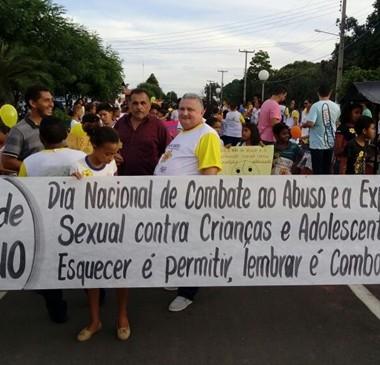 Município realizou ação de combate ao abuso sexual de crianças
