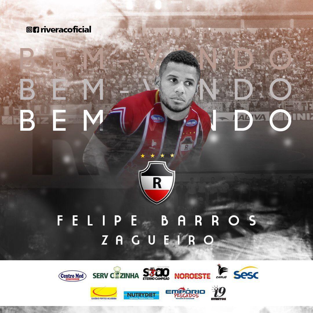 River-PI anuncia contratação de zagueiro Felipe Barros, ex-Batatais - Portal O Dia