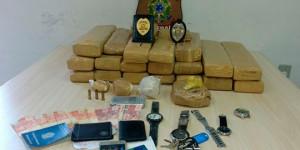 PF e PM prendem suspeito e apreendem cerca de 35 kg de drogas em Parnaíba