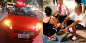 PM que dirigia embriagado é preso após atropelar dois pedestres na Raul Lopes