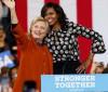 Michelle Obama faz primeira aparição em campanha e apoia Hillary Clinton