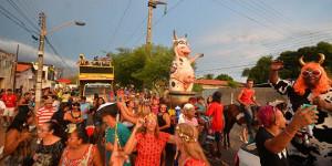 Bloco Vaca Atolada anima os foliões no 3º dia do Carnaval em Teresina, acompanhe