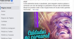 'Cuidado no carnaval para não dar PT', diz o PMDB em post no Face