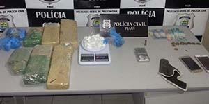 Polícia apreende cocaína que seria vendida no carnaval em Picos