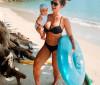 Cantora Kelly Key ostenta corpo escultural cinco meses após dar à luz