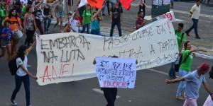 Manifestantes fazem novo protesto contra o aumento da tarifa e pedem passe livre