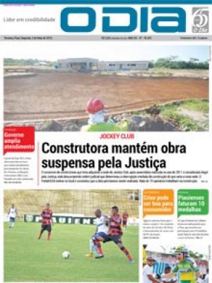 Jornal O Dia - Construtora mantém obra suspensa pela Justiça