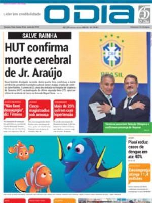 Jornal O Dia - HUT confirma morte cerebral de Jr. Araújo