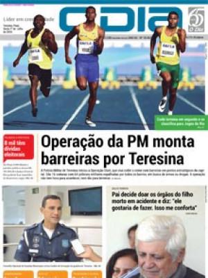 Jornal O Dia - Operação da PM monta barreiras por Teresina