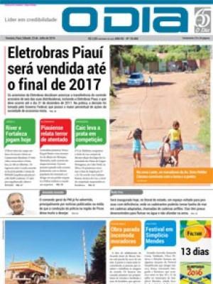 Jornal O Dia - Eletrobras Piauí será vendida até o final de 2017