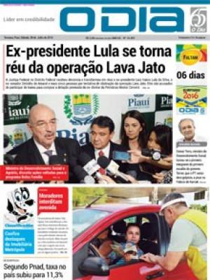 Jornal O Dia - Ex-presidente Lula se torna réu da operação Lava Jato