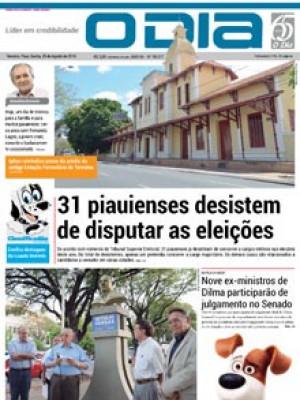 Jornal O Dia - 31 piauienses desistem de disputar as eleições