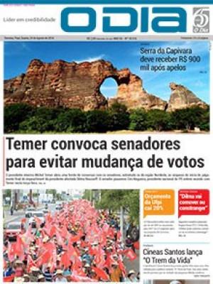 Jornal O Dia - Temer convoca senadores para evitar mudança de votos