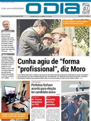 Jornal O Dia - Cunha agiu de