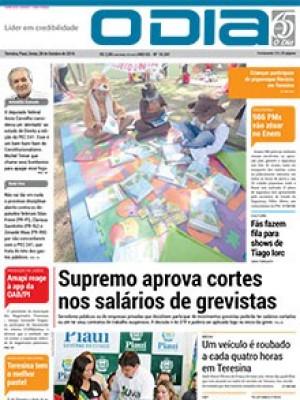 Jornal O Dia - Supremo aprova cortes  nos salários de grevistas