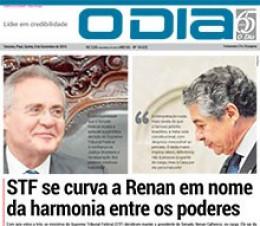 Jornal O Dia - STF se curva a Renan em nome da harmonia entre os poderes