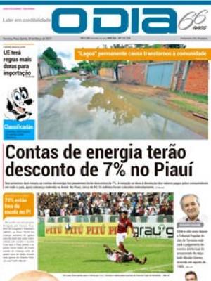 Jornal O Dia - Contas de energia terão desconto de 7% no Piauí