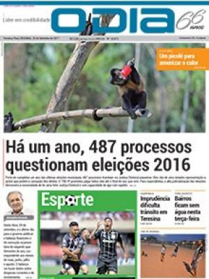 Jornal O Dia - Há um ano, 487 processos questionam eleições 2016