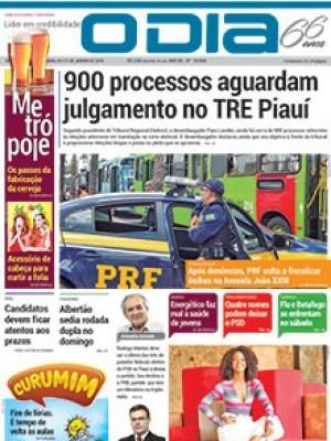 Jornal O Dia - 900 processos aguardam julgamento no TRE Piauí