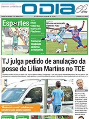 Jornal O Dia - TJ julga pedido de anulação da posse de Lilian Martins no TCE