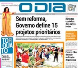 Jornal O Dia - Sem reforma, Governo define 15 projetos prioritários