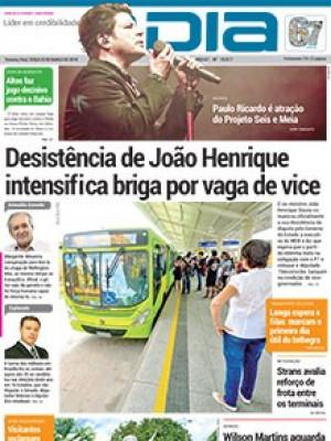 Jornal O Dia - Desistência de João Henrique  intensifica briga por vaga de vice