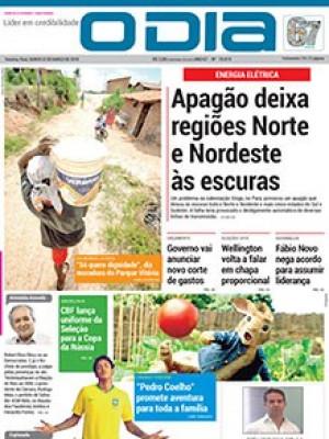 Jornal O Dia - Apagão deixa regiões Norte e Nordeste às escuras