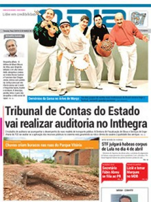 Jornal O Dia - Tribunal de Contas do Estado  vai realizar auditoria no Inthegra