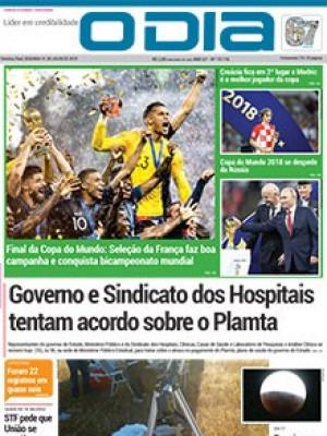 Jornal O Dia - Governo e Sindicato dos Hospitais tentam acordo sobre o Plamta