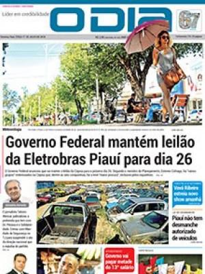 Jornal O Dia - Governo Federal mantém leilão  da Eletrobras Piauí para dia 26