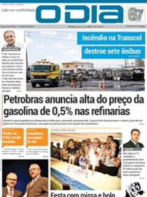 Jornal O Dia - Petrobras anuncia alta do preço da gasolina de 0,5% nas refinarias