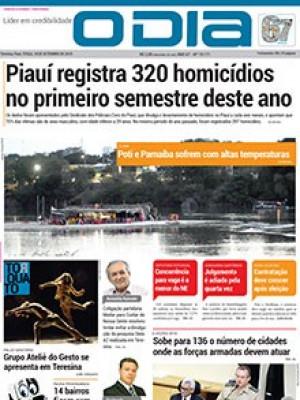 Jornal O Dia - Piauí registra 320 homicídios no primeiro semestre deste ano