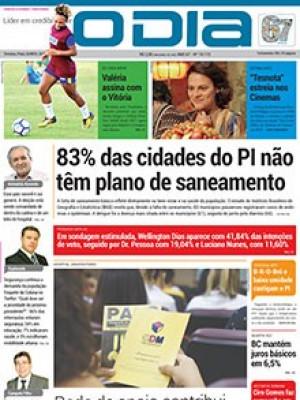 Jornal O Dia - 83% das cidades do PI não têm plano de saneamento