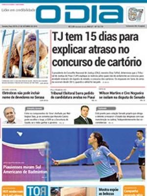 Jornal O Dia - TJ tem 15 dias para explicar atraso no concurso de cartório