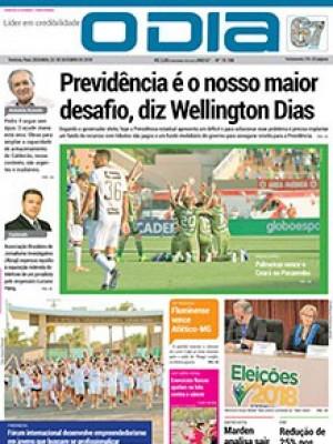 Jornal O Dia - Previdência é o nosso maior desafio, diz Wellington Dias