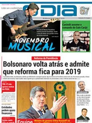Jornal O Dia - Bolsonaro volta atrás e admite que reforma fica para 2019