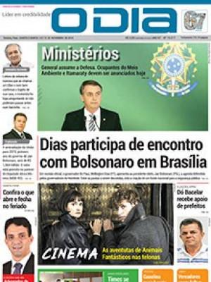 Jornal O Dia - Dias participa de encontro com Bolsonaro em Brasília
