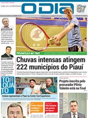 37545eb234 Jornal O Dia - Chuvas intensas atingem 222 municípios do Piauí