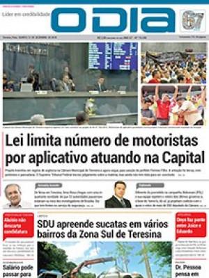 Jornal O Dia - Lei limita número de motoristas por aplicativo atuando na Capital