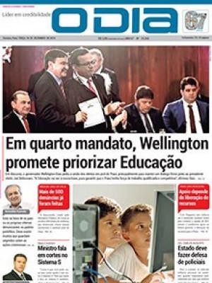 Jornal O Dia - Em quarto mandato, Wellington promete priorizar Educação