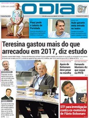 Jornal O Dia - Teresina gastou mais do que arrecadou em 2017, diz estudo