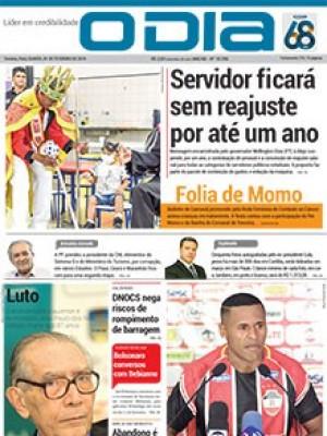 Jornal O Dia - Servidor ficará sem reajuste por até um ano